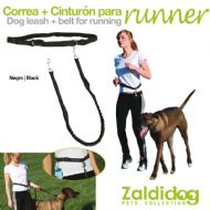 Zaldi belt with lead for running with dog